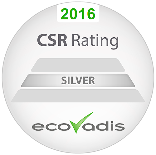 2016 CSR Rating Silver EcoVadis